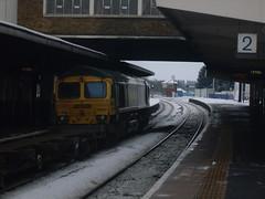 SDC14334 (midlandspotters) Tags: snow station train shropshire cross country trains db 66 class oxford voyager coal hopper 67 60 banbury nuneaton eastleigh wrexham pendolino ews fastline shenker frieghtliner gbrf midlandspotters