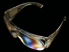 Rainbow Specs (Victor W.) Tags: color colour eye glasses rainbow olympus safety plastic e physics polarizer polarized spectacles protection 43 rds evolt stihl polarised 410 polariser