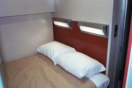 Private Rail Car - Hickory Creek, master bedroom