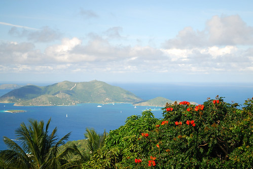 Tortola: View of Jost Van Dyke islands by sklachkov.