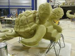 Turtle slide (rijerse) Tags: sculpture detail art glass work artwork artistic turtle awesome great fine shapes sculptuur slide foam form fiber shape intricate sculpting