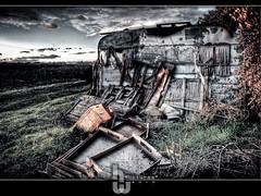 Caravane abandonne (HWpcues) Tags: abandoned canon farmer caravan firm hdr ferme 1740 hdri caravane abandonn insulated f4l photomatix isol 400d