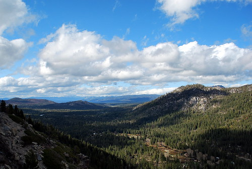 CA State Route 50 view to Lake Tahoe