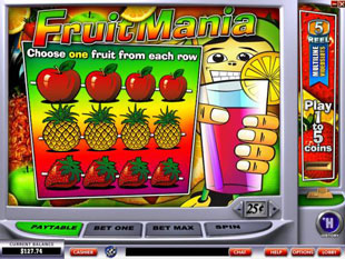 free FruitMania gamble bonus game