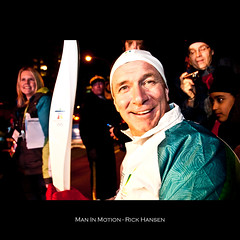 Day 40/365 - MAN IN MOTION - RICK HANSEN (Davis Chu) Tags: smile vancouver project happy nikon photographer britishcolumbia joy richmond days 365 nikkor ozone olympicflame winterolympics vancouver2010 olympictorchrelay rickhansen maninmotion 18200vr canadianhero granvilleavenue d300s minoruboulevard 25000people davischu wwwdavischucom