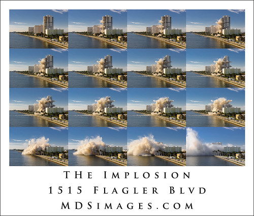 The Implosion of 1515 Flagler - sequence of the art