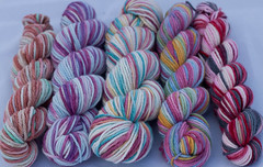 Alice in Wonderland Dye Ends on Spirit Worsted 8.9 oz (...a time to dye)