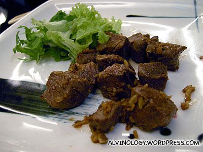 Teppanyaki beef