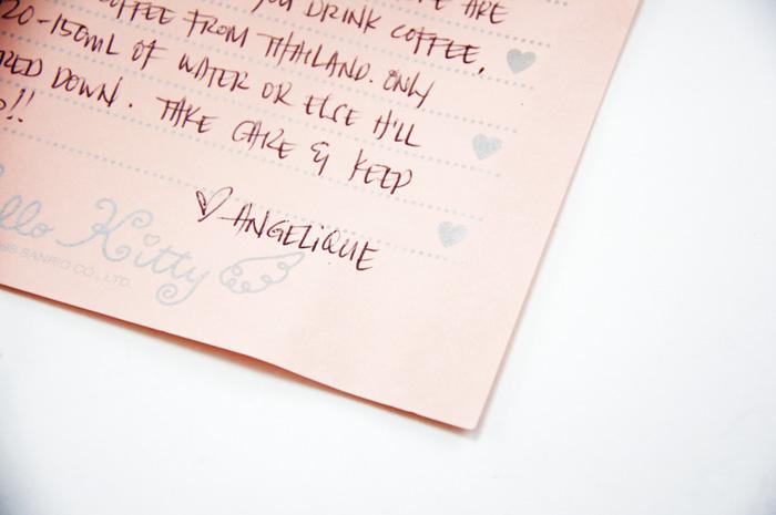 angelique letter