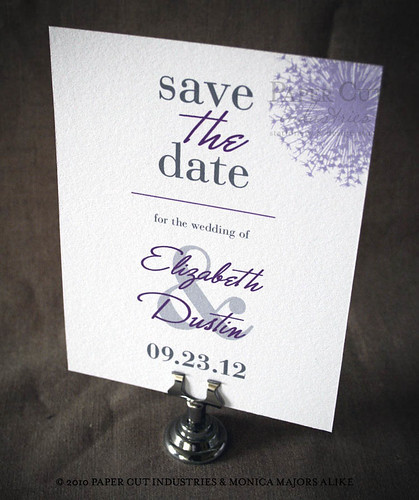 Purple Reign Wedding Save the Date