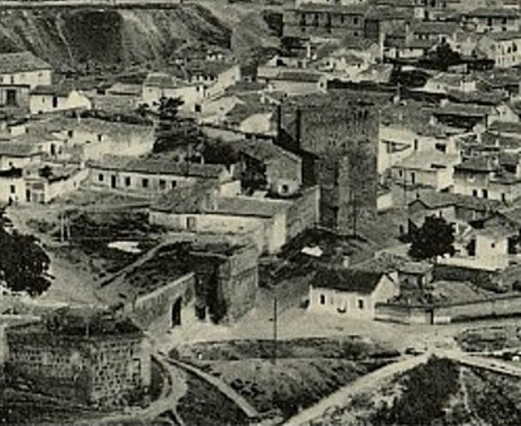 Torre de la Almofala a principios del siglo XX. Foto Grafos