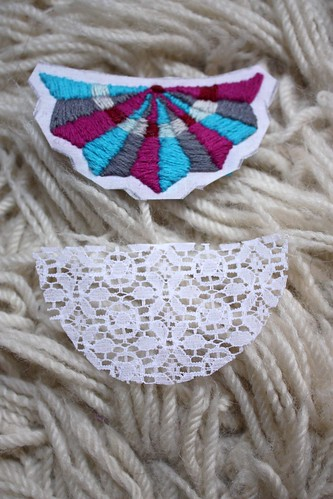 Step 8: Cut a piece of slightly larger lace