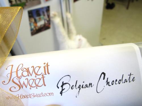 Belgian Chocolate Caramels.