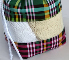 "PREORDER SALE Peek-a-boo Bag - ""Chocolate Lollipop"" plaid"