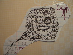 doodle #1 (_AmaZing_GraCe_) Tags: art halloween pen mouth pumpkin sketch scary eyes drawing roots creepy doodle vein creature demented