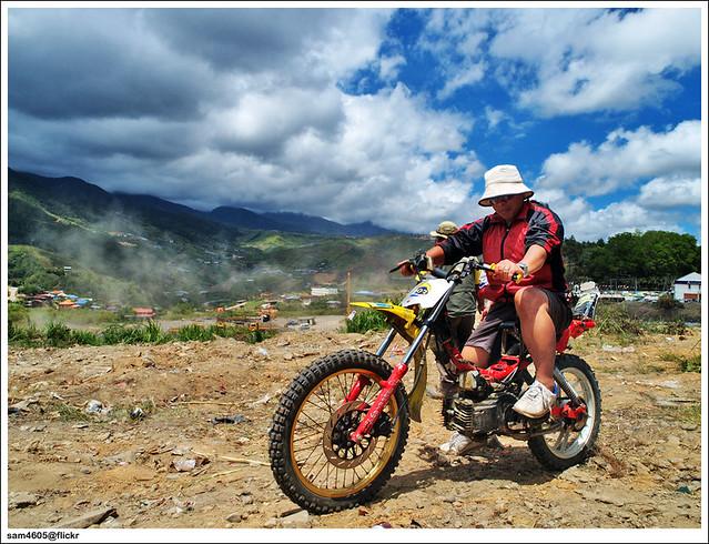"""Rangka motosikal """"off road"""" Kundasang"""
