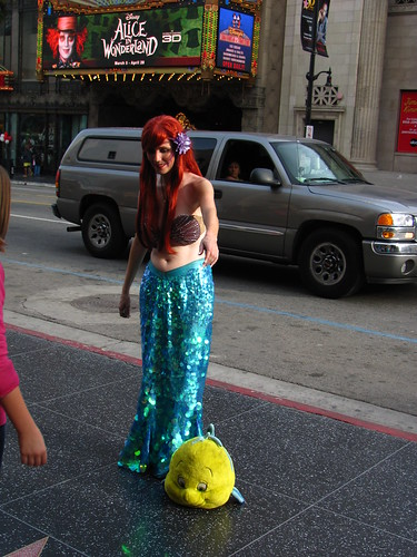 Ariel and Flounder on Hollywood Boulevard by Loren Javier