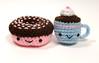 donut and cocoa (callie callie jump jump) Tags: set burlington dessert cupcakes stuffed vermont handmade crochet plush yarn donut kawaii sweets etsy fiber amigurumi hotcocoa stuffie urbanfarmgirl erinnsimon