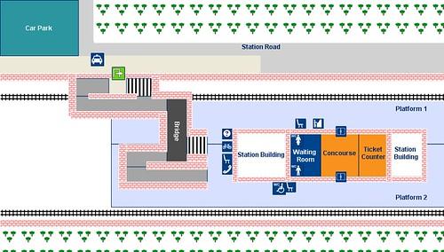 Leuchars, station plan