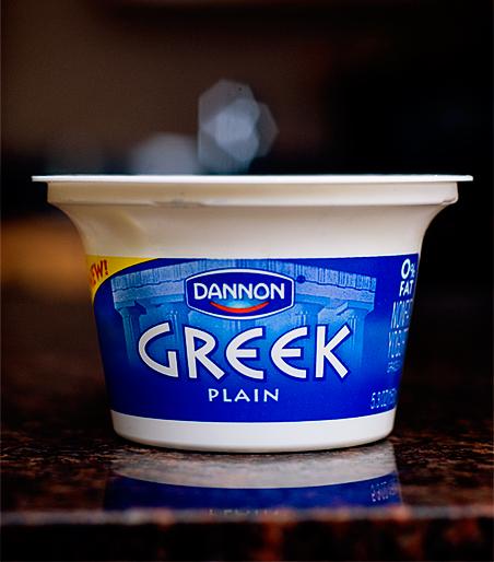 making yogurt 3-26-10 greek yogurt
