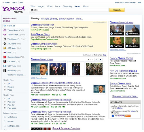 yahoo news search results page