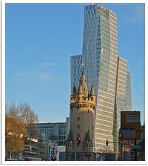 Frankfurt am Maim - Eschenheimer Turm und Turm am Thurn-und-Taxis-Platz