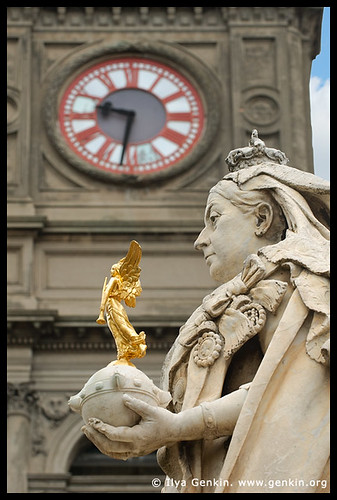 Ballarat Town Hall and Queen Victoria Statue, Ballarat, VIC, Australia