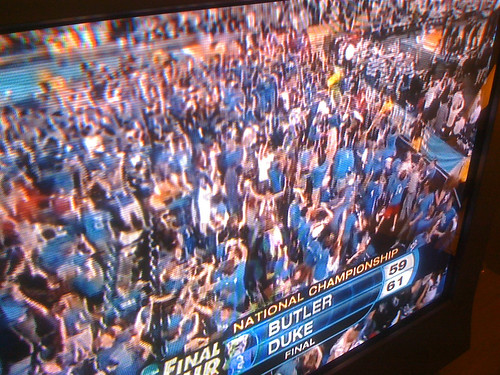 8:36pm Watching Duke beat Butler for the 2010 National Championship.