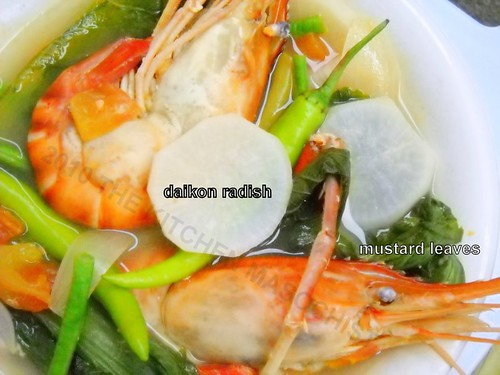 freshwater prawns in sour soup