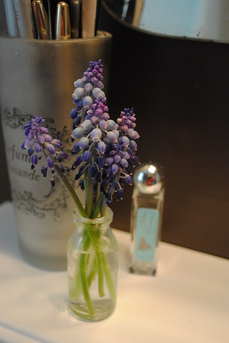 flowers and perfume bottle