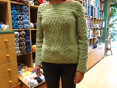 I love knitting (sifis) Tags: green wool canon sweater knitting pattern merino athens yarn greece cables pullover s90 handknitting sakalak      sakalakwool