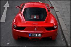 Ferrari 458 Italia (JespervdN) Tags: red berlin backlight germany deutschland photography spider nikon italia engine 360 ferrari enzo sickness mod