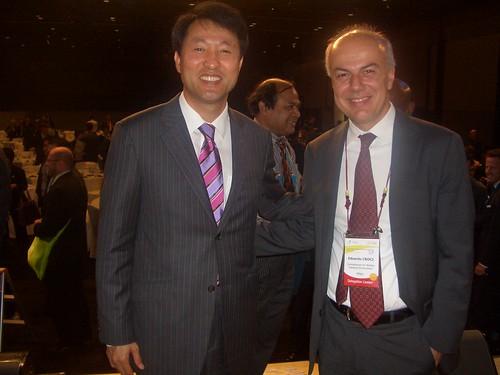 Edoardo Croci con Oh Se-hoon, sindaco di Seoul, 20 Maggio 2009