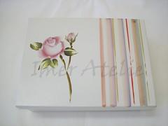 cx m porta joias rosas (Imer atelie) Tags: brasil tampa minas box flor artesanato botão caixa rosas decoração corderosa branca pintura mdf sapato utilidades listras delicada laqueada imeratelie