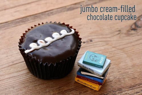 Jumbo Cream-Filled Chocolate Cupcakes