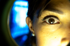 Iris (Nortuko) Tags: iris woman eye glass girl magnifyingglass beautifull