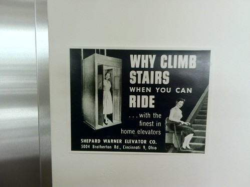 WHY CLIMB STAIRS WHEN YOU CAN RIDE...with the finest in home elevators