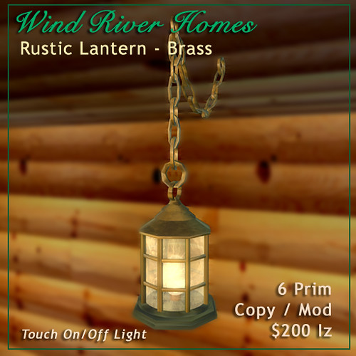Rustic Lantern - Brass by Teal Freenote