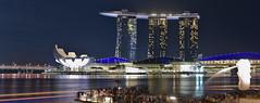 Marina Bay (Arushad) Tags: arushad singapore travel artscience arushadahmed bay bridge city cityscape dash8x helix lights marina marinabaysands merlion museum night ocean park people sea skyline