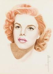 Judy Garland (artist - Bratt) (KlaatuCarpenter) Tags: artwork portrait bratt judygarland