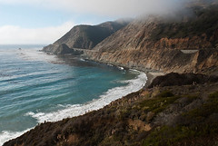Unbelievable View 2 (Tony DeFilippo) Tags: california travel color weather fog architecture mom surf waterfront bridges bigsur pacificocean vista froth rt1 nikon20mmf28 placesspecific 0909montereysftrip