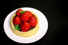 Strawberry Tart with Valrhona Ganache