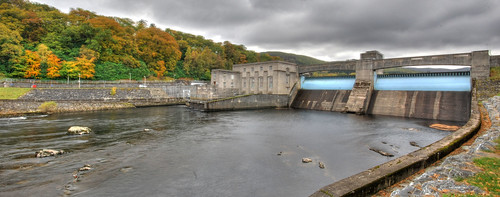 Pitlochry Dam in HDR using a mega wide angle lens