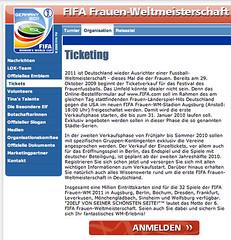 FIFA Frauen-Weltmeisterschaft Deutschland 2011 (Screenshot: fifa.com)
