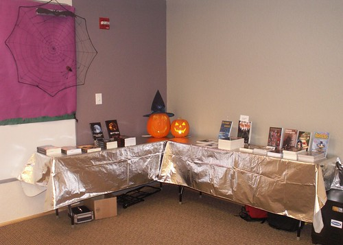 Author Book Displays, Halloween Horrorfest