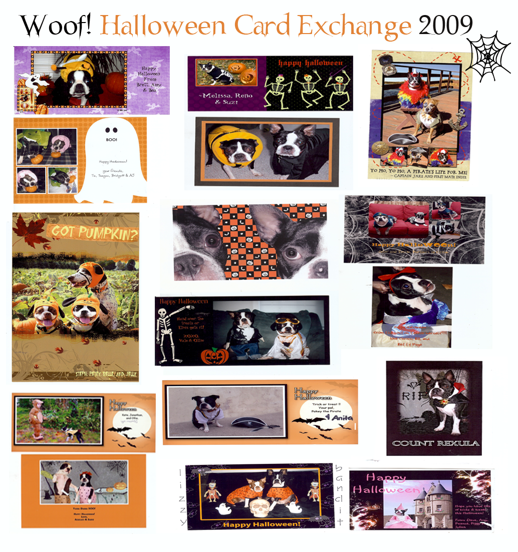 Woof! Halloween card exchange