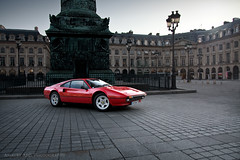 Ferrari 308 GTB - Vendme (Amaury AML) Tags: auto street light sun sunlight paris france classic cars car night square italian italia place automotive ferrari voiture cobble exotic motor exotics gtb vendome quattro 308 vendme