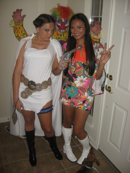 Princess Leia, scary clown, and 1970's Cher