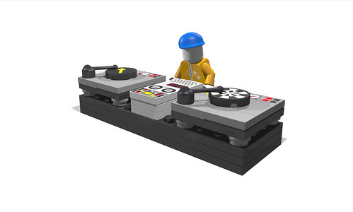 Lego DJ with Turntables