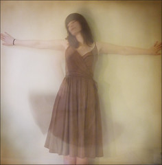 the dress (nani targetti) Tags: brown motion blur texture girl wall vintage hair square dress skirt likesilk artofimages nanitargetti bestportraitsaoi